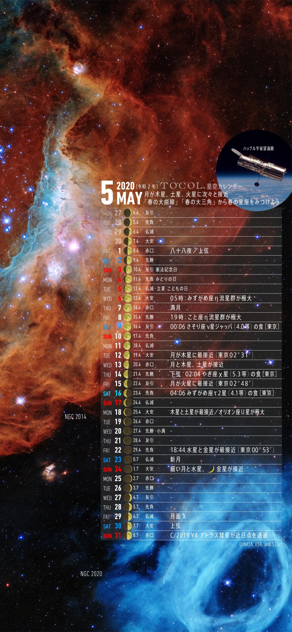 星空カレンダー 壁紙 Panda ユニバーサルデザイン スマホ天体望遠鏡 Tocol Artcrafts