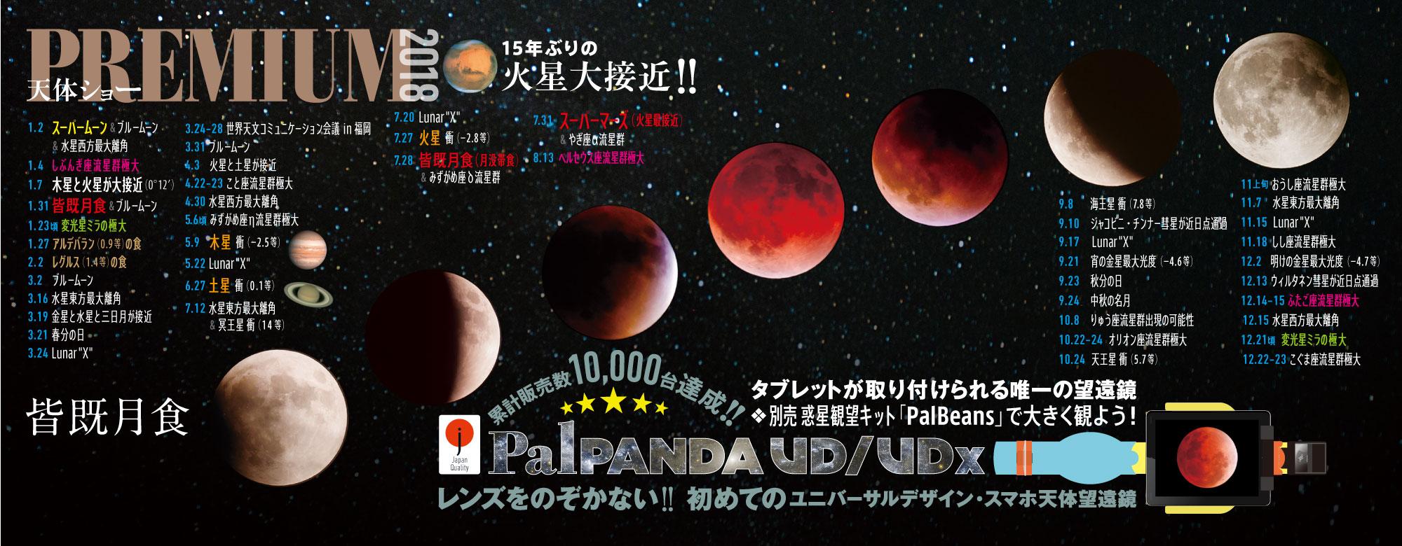2018天体ショーカレンダー