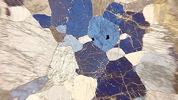 偏光顕微鏡_岩石薄片の観察